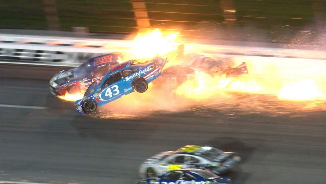 Aric Almirola Crash at Kansas Speedway - Racing News