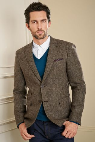 Buy Taupe Donegal Tailored Fit Jacket from the Next UK online shop ...