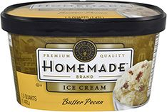 Homemade Brand Butter Pecan ice cream