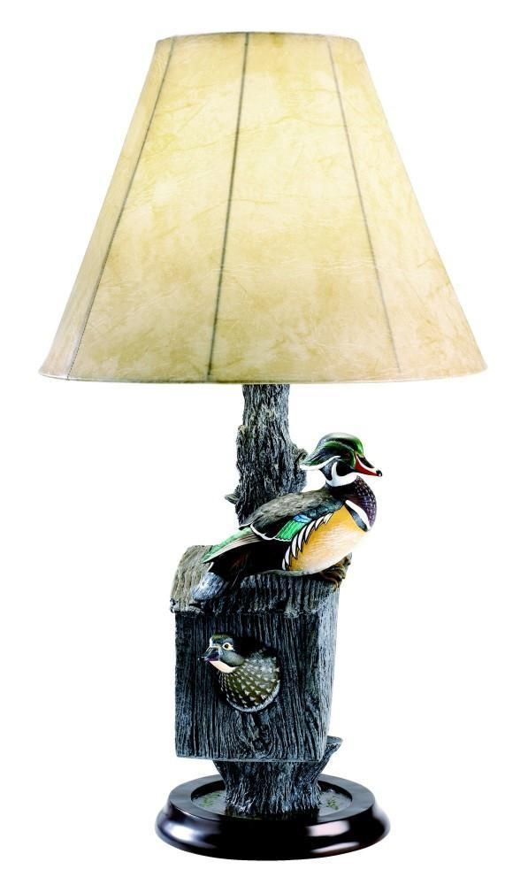 Nesting Wood Duck Pair Lamp Rustic Table Lamps, Wildlife Decor, Lodge  Decor, Rustic