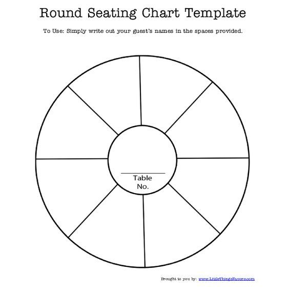 free printable #round #seating #chart #template for #weddings and