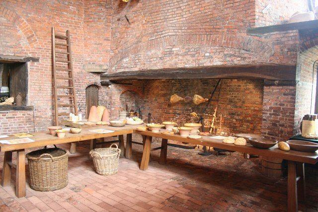 Medieval kitchen | Traditional kitchen design, Fireplace ...