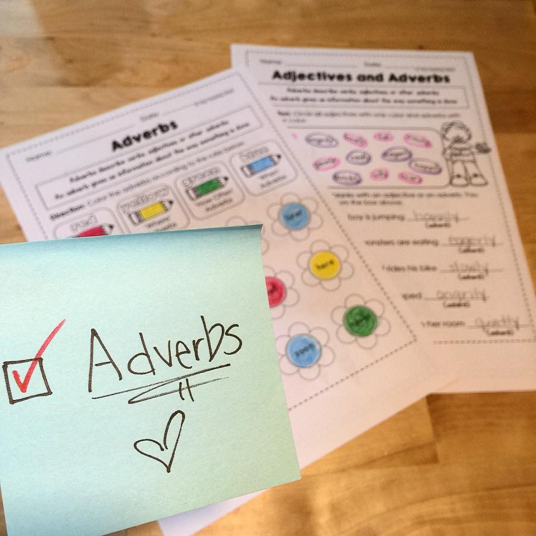 Adverbs Common Core NO PREP Practice Sheets L 2 1 e   Pinterest     adverbs worksheet for first and second graders  adverbs for beginners