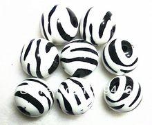 20MM biela farba 100ks / lot Round Round Acrylic Zebra pásky korálky, Najlacnejšie Zavalitý Akrylové korálky na náhrdelník šperky (Čína (pevninská časť))