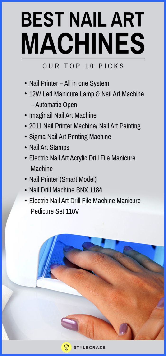 10 Best Nail Art Machines - 2018 Update | Nail art machine, Pedicure ...
