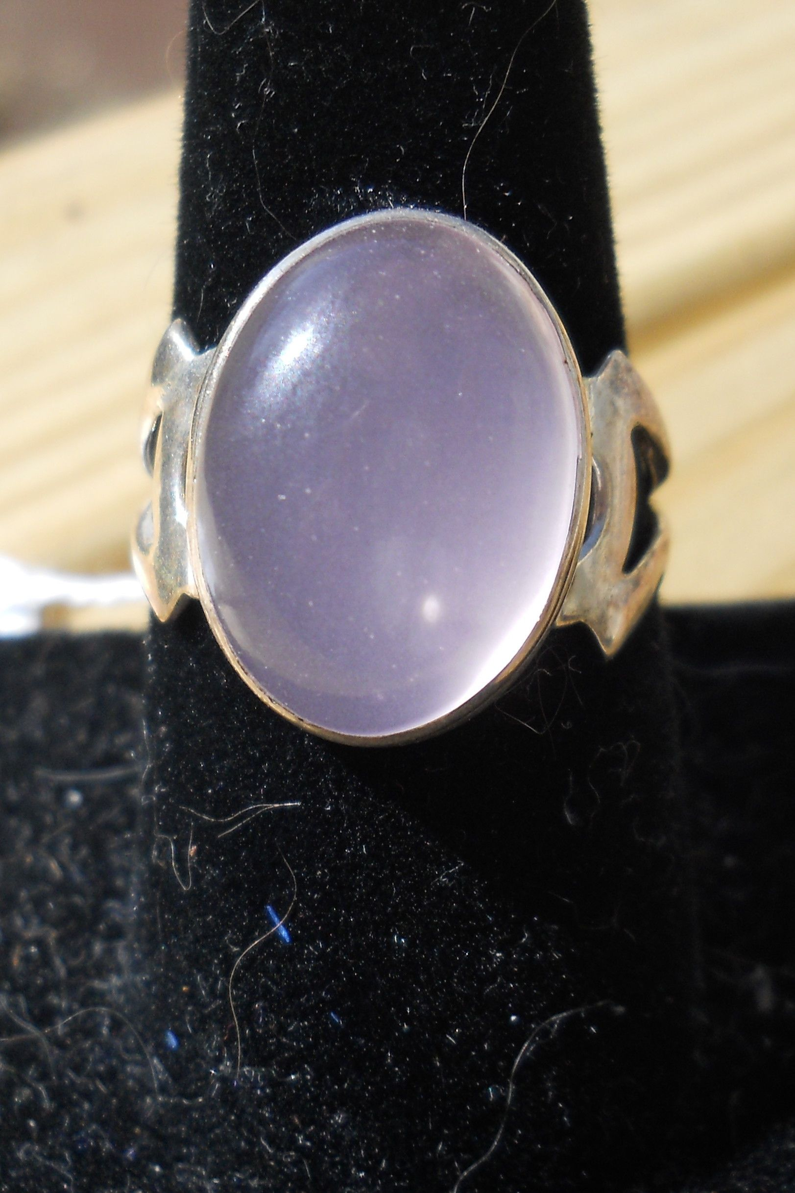 Pink Onyx and Sterling Silver  Size 8.5    $20.00
