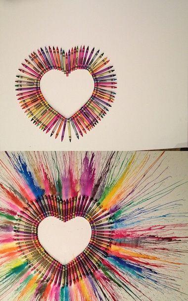 Crayon Art Heart