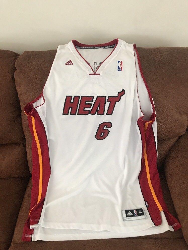 sale retailer 016ab aba9f LeBron James #6 Adidas NBA miami heat jersey Size 4XL Lenght ...