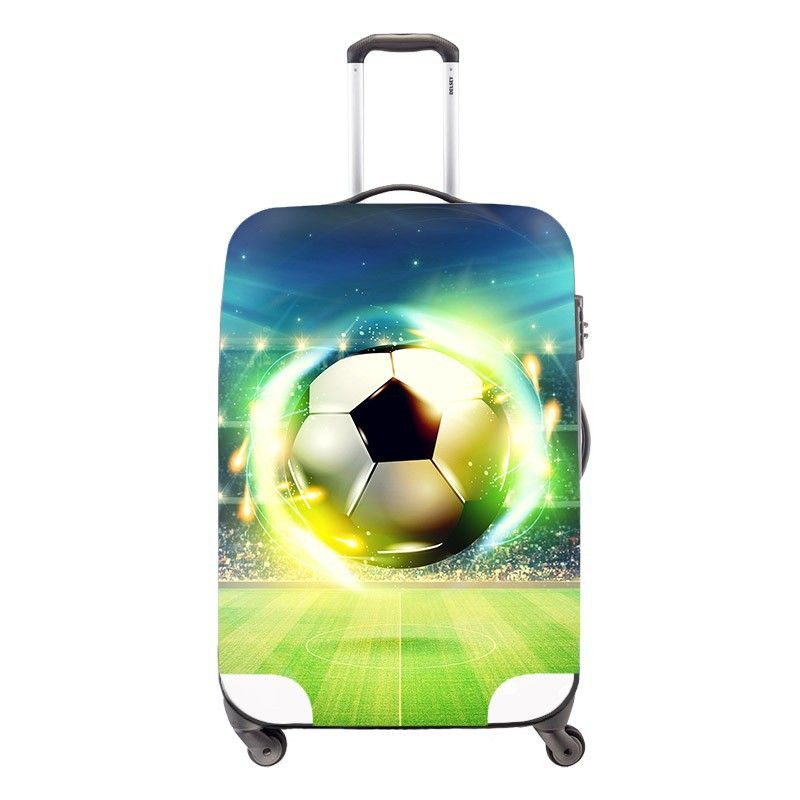 elastic polyester travel luggage cover,ball 3D printing trolley luggage covers,travel luggage protective for 18-30 inch suitcase