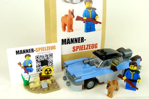 Custom Set Of Lego Elements Inspired By Fallout Moc Highwayman
