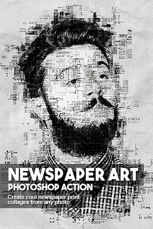 newspaper art | Inspirational idea's | Photoshop actions, Newspaper