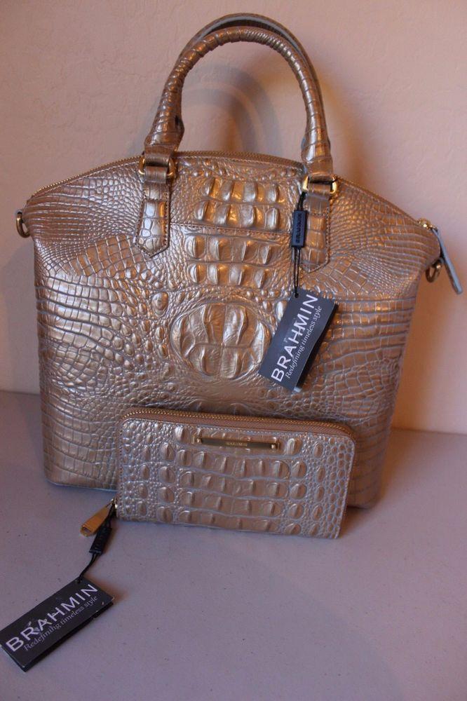Brahmin Large Duxbury Satchel Mojave Melbourne 295 And Wallet 135 New Bagsbrahmin Handbagswomen S