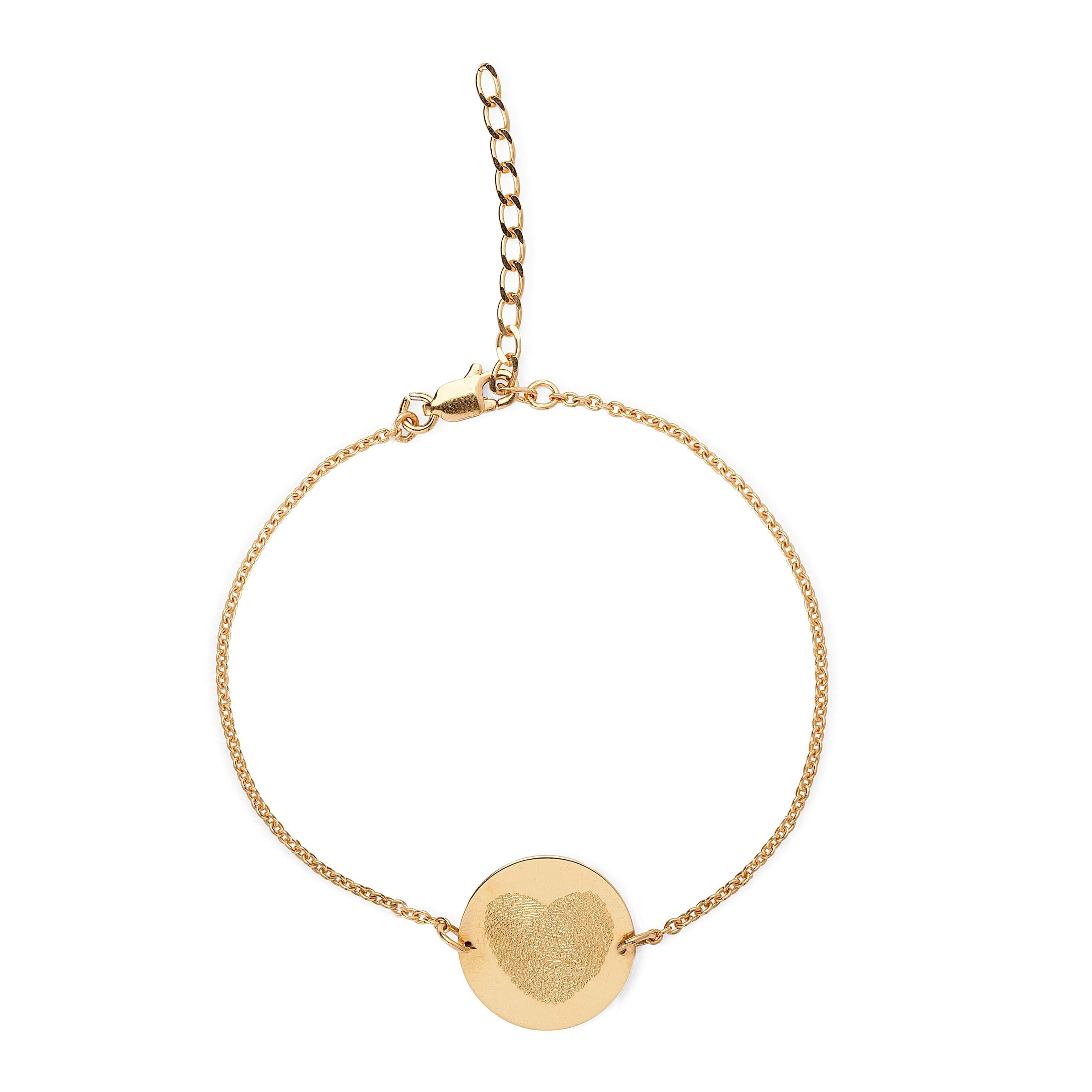 Fingerprint coin bracelet comes in yellowrosewhite gold u sterling