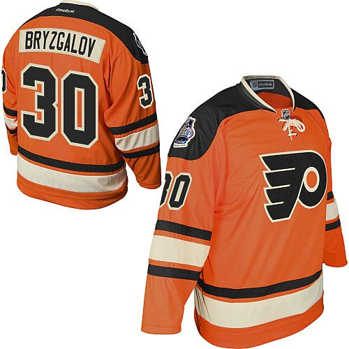 Philadelphia Flyers Ilya Bryzgalov 30 Orange Replica Jersey Sale ... 79518f318