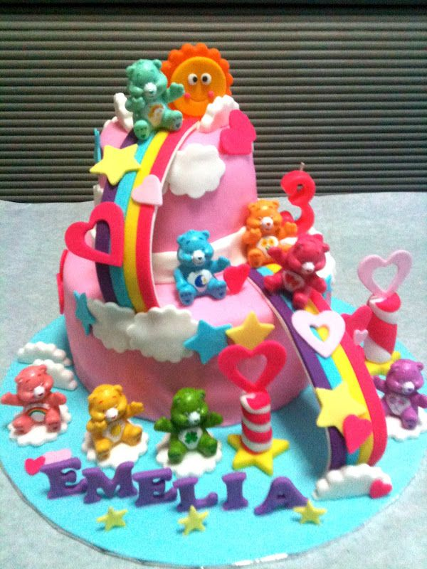 Care Bears Birthday Cakes Care Bears And Rainbow Theme For