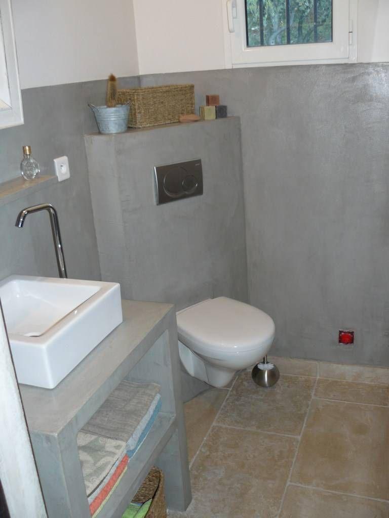 Bildergebnis für salle de bain beton ciré gris clair | Bäder ...