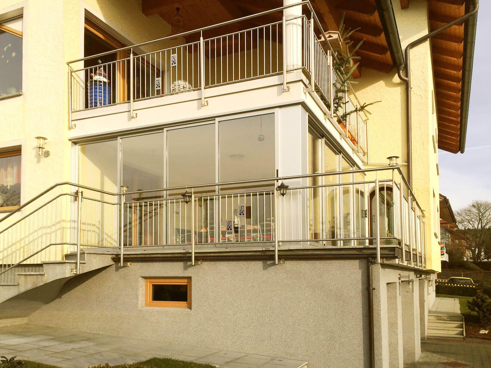 schiebetüren für balkon - windschutz aus glas und aluminium für, Gartengerate ideen