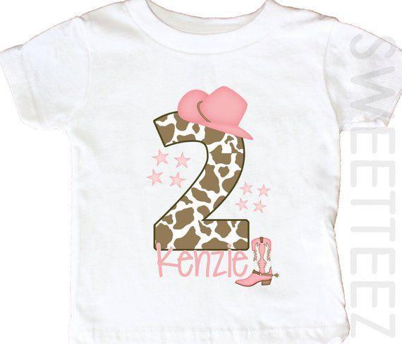 2820b5af5 Cowboy Birthday Shirt First Birthday Shirt CowGirl Personalized Age Shirt