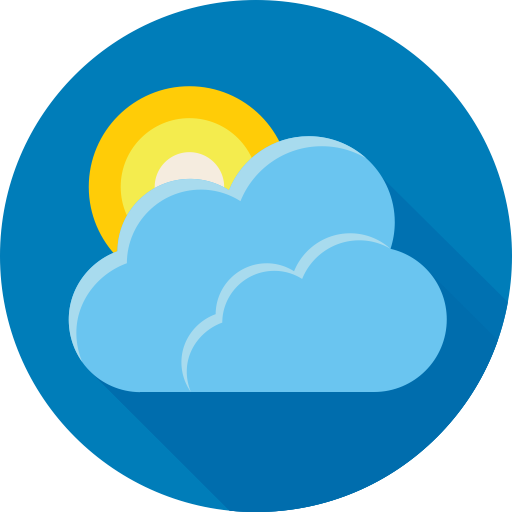 Cloud, forecast, sun, weather icon (With images) Weather