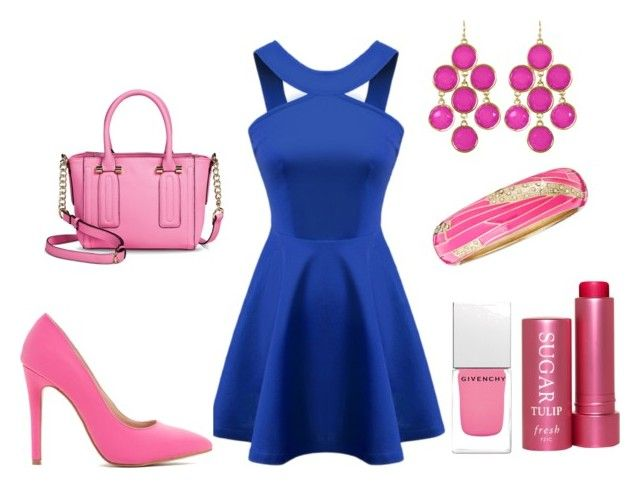 Royal Blue & Bubblegum Pink by ohsosara64 on Polyvore featuring polyvore, fashion, style, Merona, Towne & Reese, Sequin, Fresh, Givenchy and clothing