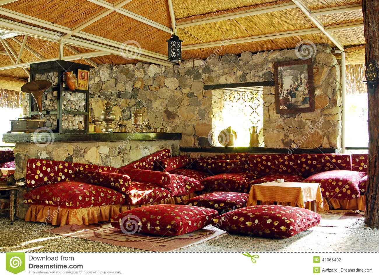 Interior Of Traditional Turkish Restaurant Stock Photography ...