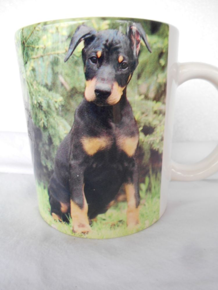 Doberman Pinscher Dog Puppy Coffee Cup Mug Barbara Augello