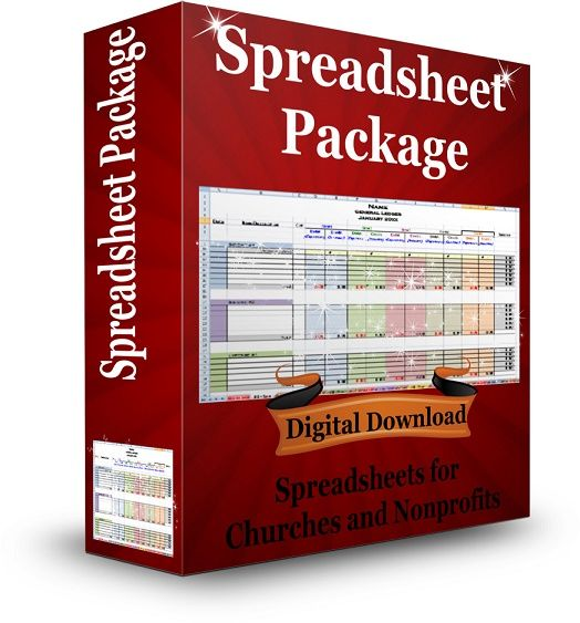 spreadsheet package for churches and nonprofits that