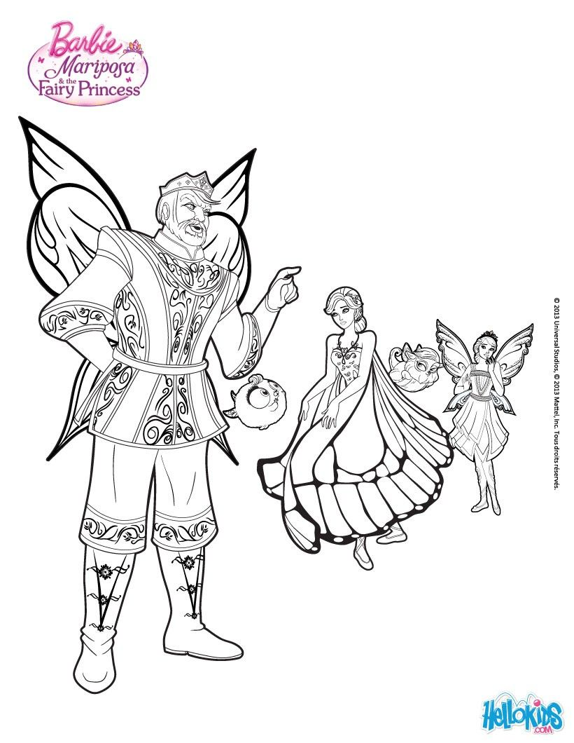 Mariposas Large Wings Appear Clumsy To The Crystal Fairies More Barbie Mariposa Coloring Sheets On Hellokids