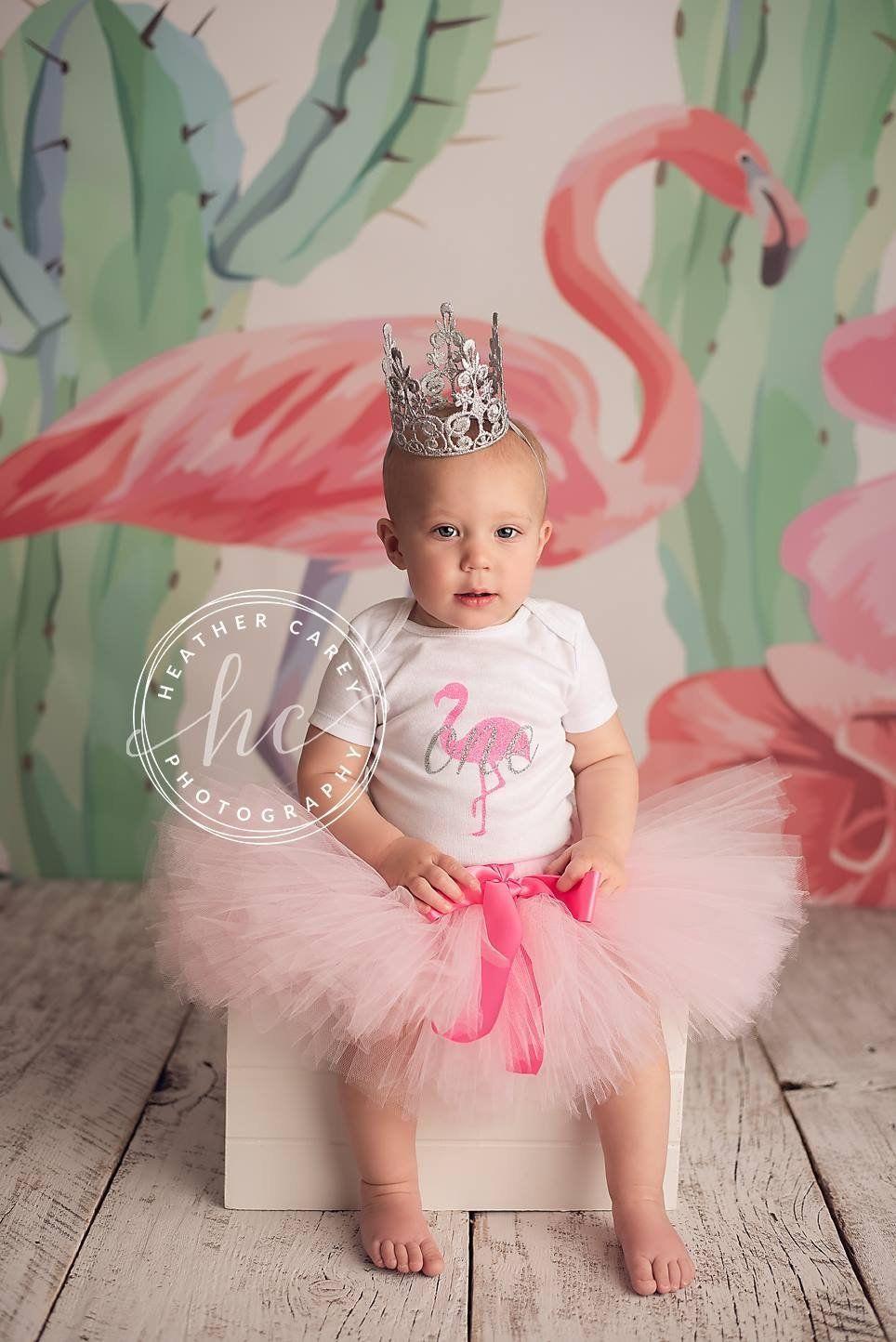 Pink Flamingo Birthday Outfit Girl Beach Theme 1st Birthday Tutu