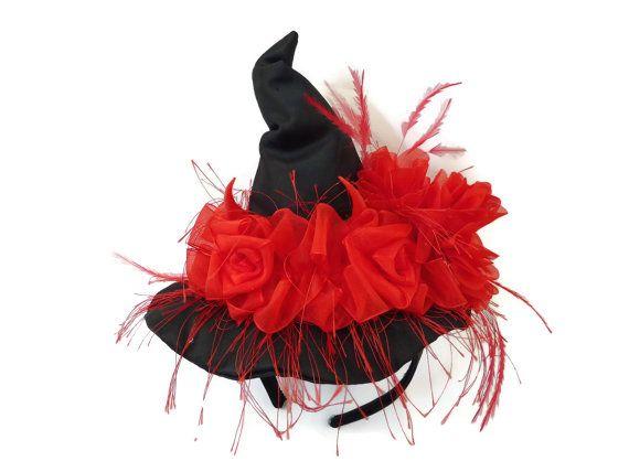 Witch Hat Fascinator Mini Hat Headband by IfTheHatFitsByJackie