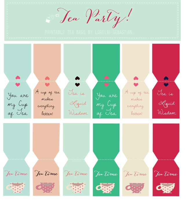 Lorelai S Things Printable Tea Tags For Your Tea Party With