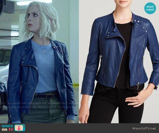 Liv's blue leather jacket on iZombie.  Outfit Details: http://wornontv.net/54545/ #iZombie