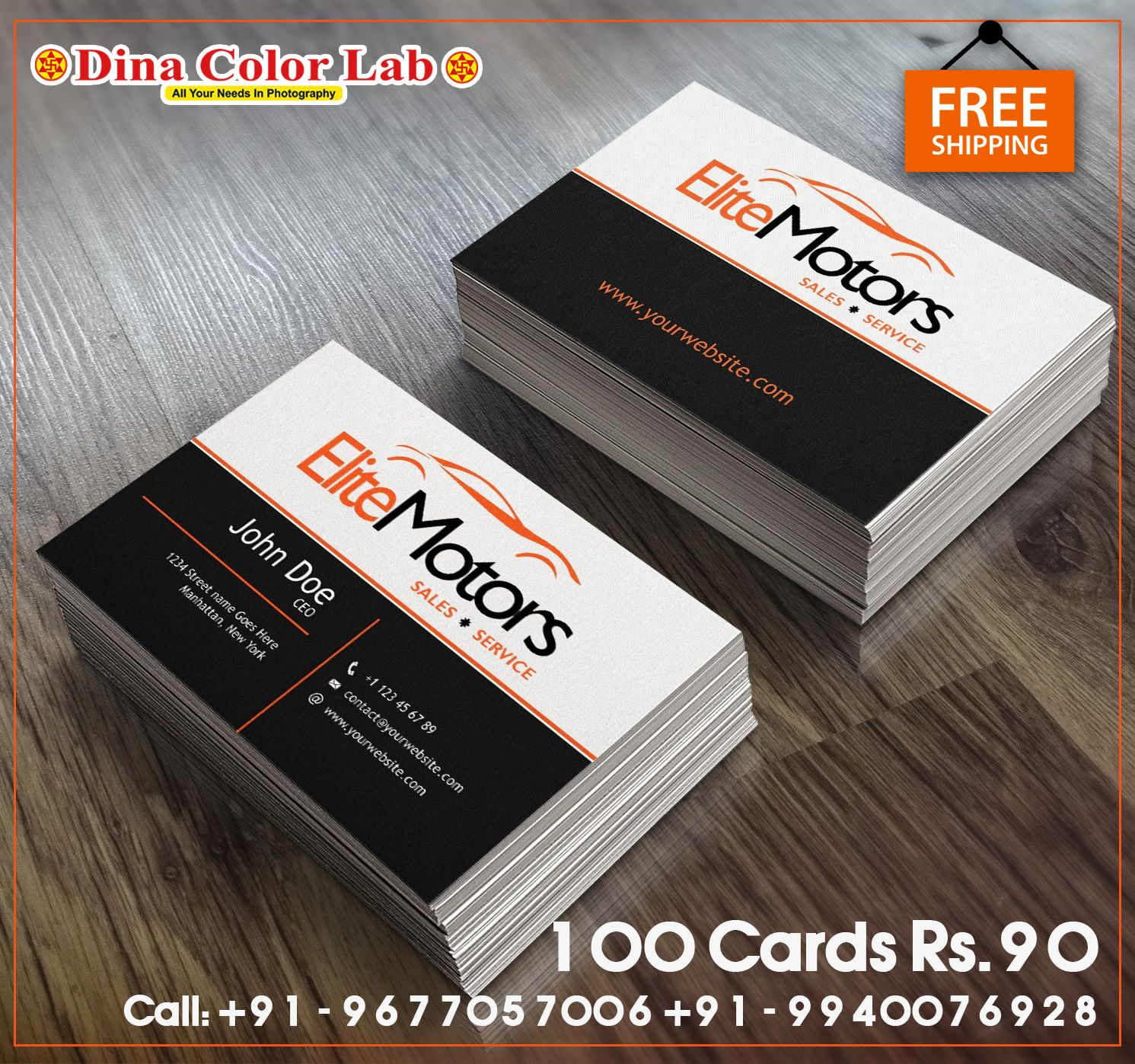 100 Business Cards At 90 Free Shipping Brown Kraft Business Cards Kraft Business Cards Visiting Card Printing