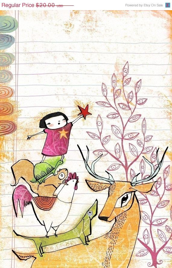 ON SALE a modern christmas illustration - a BRIGHT red star - 8 x 10 inch limited edition archival print by cori dantini