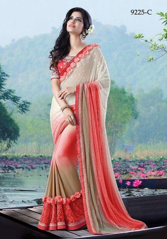 48dac3adb6e207 Sari Bollywood Indian New Embroidery Party Wear Designer Saree Blouse  Freeship  Shoppingover  SariSaree