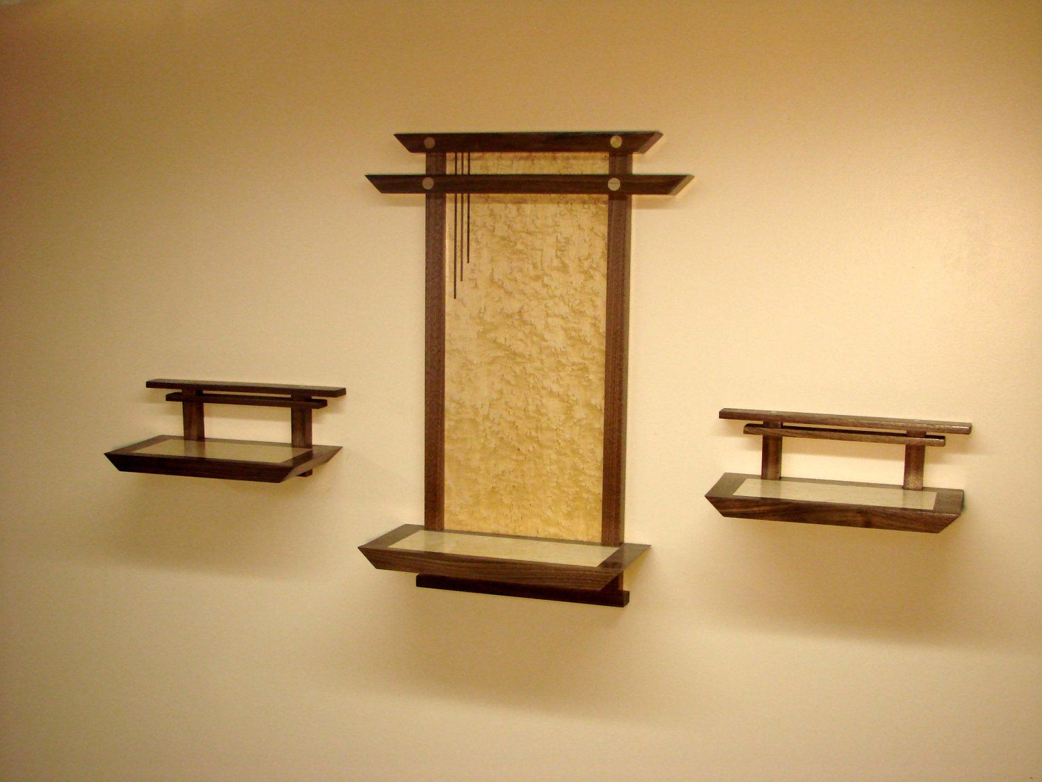 Asian Influence Shelves - Set of Three (Wide Shelf and Two Small ...