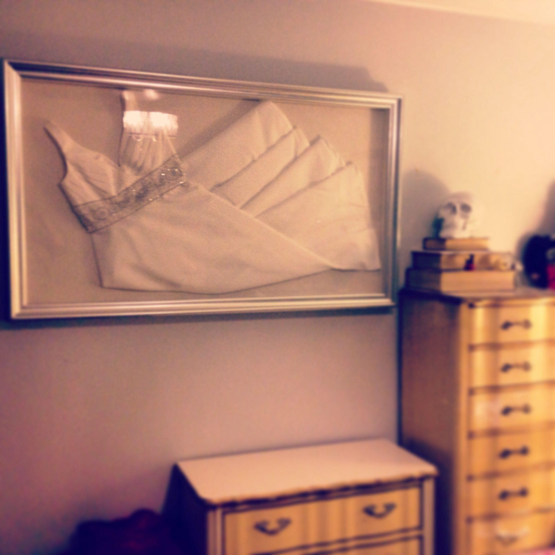 My framed wedding dress! | Sweet Wuv | Pinterest | Brautkleid und ...