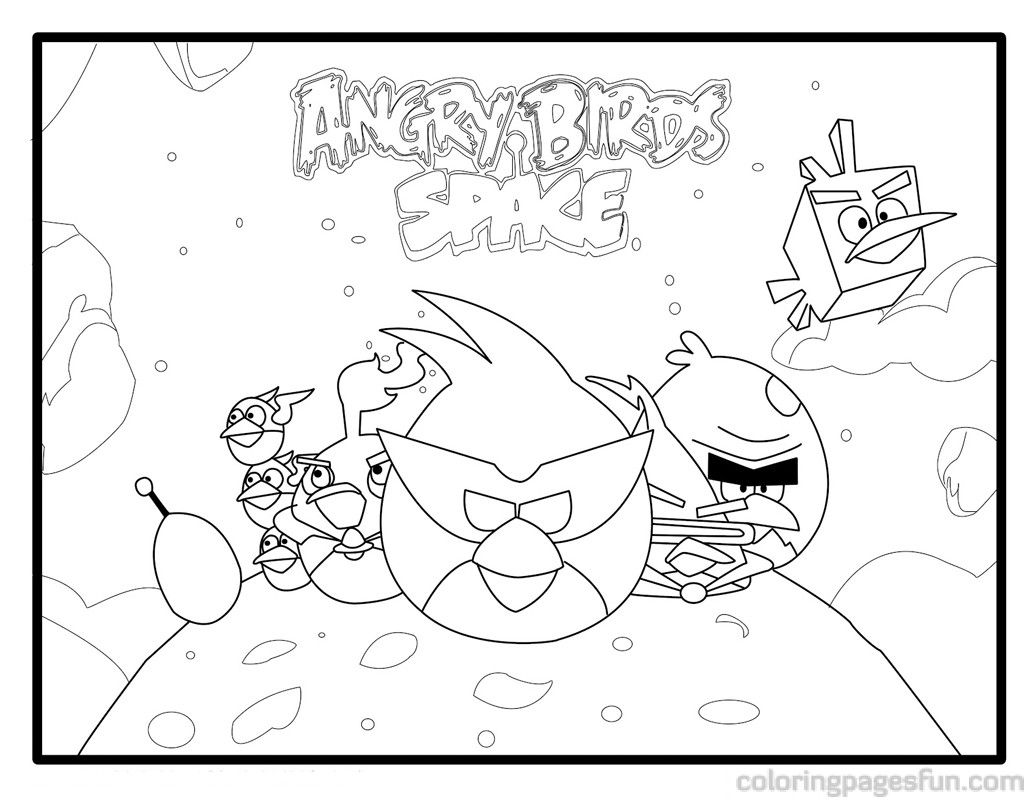 Angry Birds Space Coloring Pages 18  Books Worth Reading