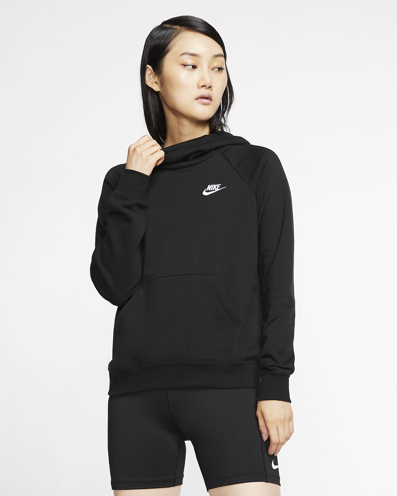 Nike Sportswear Essential Women S Funnel Neck Fleece Pullover Hoodie Nike Com Nike Sportswear Nike Sportswear Women Women Hoodies Sweatshirts [ 1600 x 1280 Pixel ]