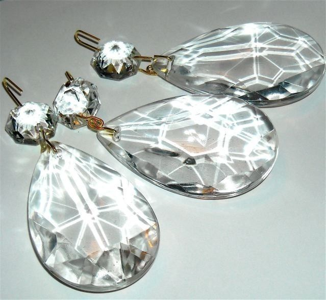 New To Pinksupply On Etsy Chandelier Crystal Vintage Teardrop