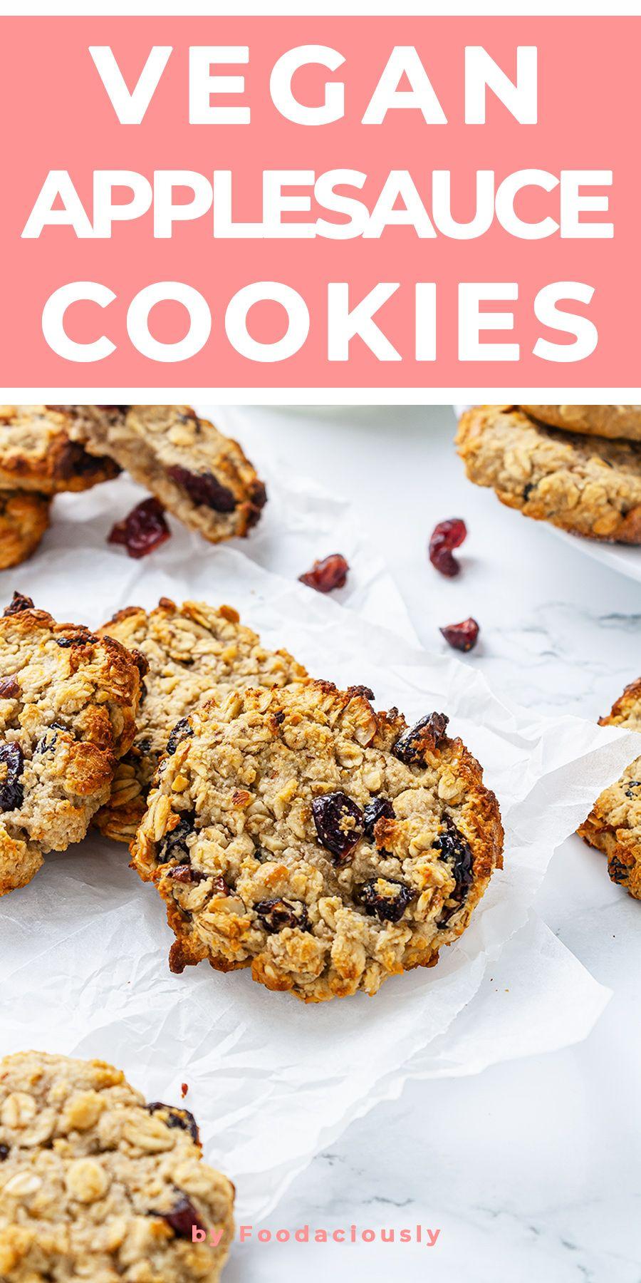 Gluten Free Vegan Applesauce Cookies Recipe Recipe In 2020 Applesauce Cookies Recipes Vegan Oatmeal Cookies Healthy Oatmeal Cookies