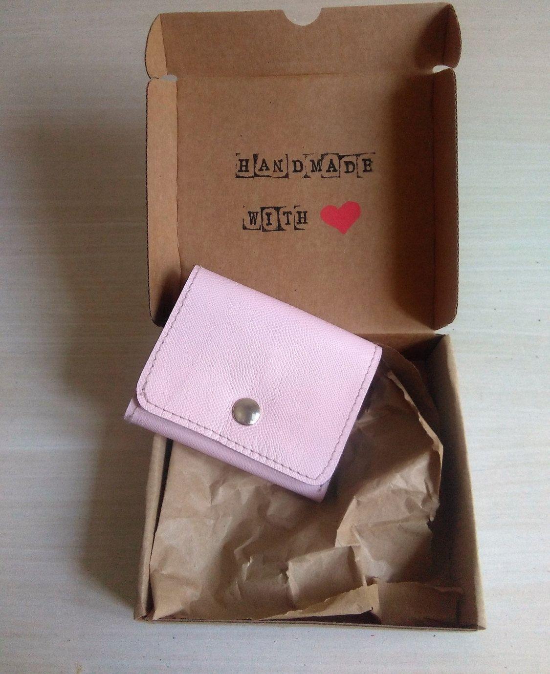 Cartera de Cuero Tamaño Pequeño color Rosa Maquillaje 913a76acf291