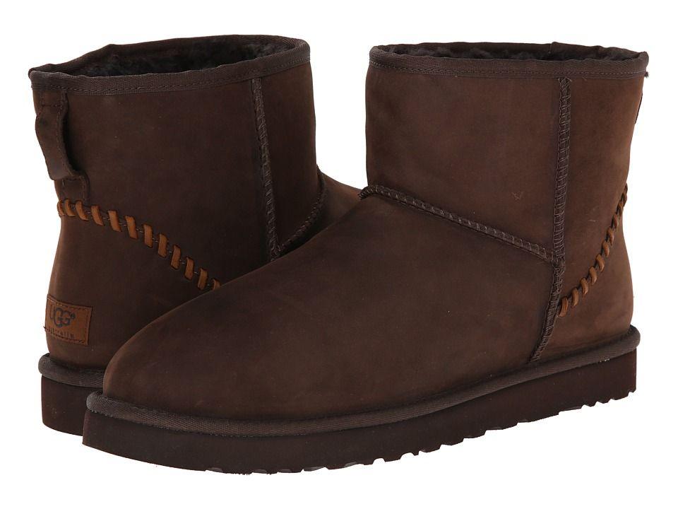 Mens Boots UGG Classic Mini Deco Stout Leather
