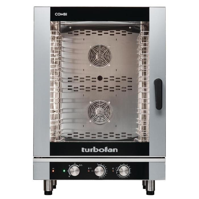Turbofan Full Size 10 Tray Manual Electric Combi Oven Ec40m10 Combi Oven Catering Equipment Commercial Catering Equipment
