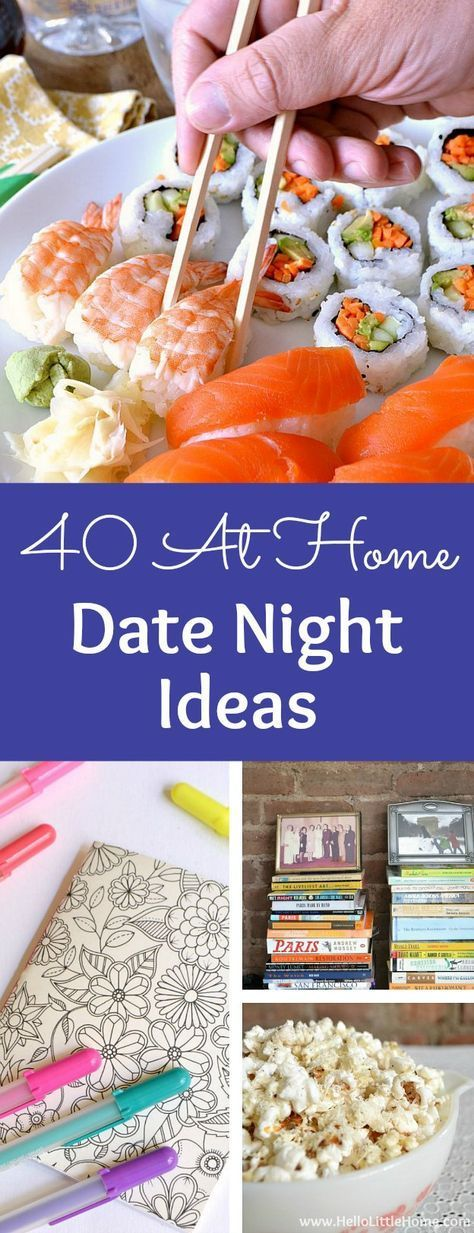 40 Creative At Home Date Night Ideas