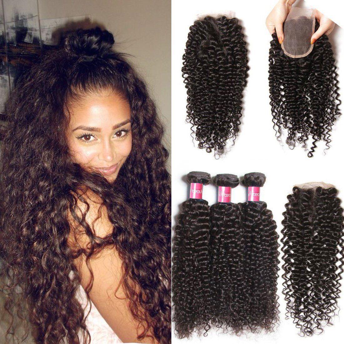 Longqi Beauty Brazilian Unprocessed Curly Virgin Human Hair Weave 3