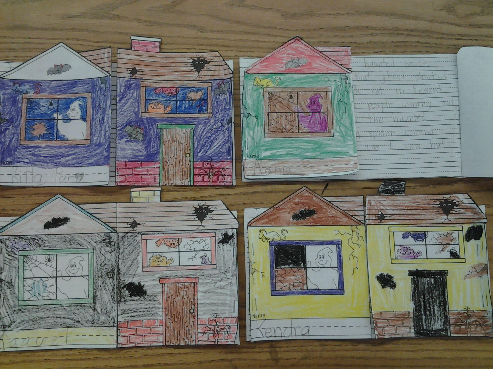 Halloween Art And Writing Haunted House Writing Activity