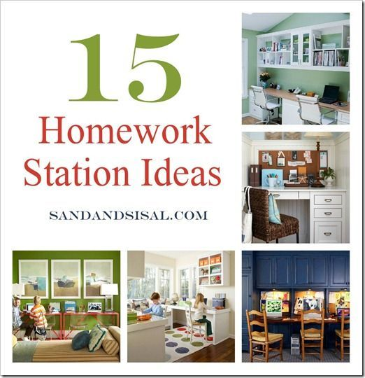 Kids Study Area Ideas: 15 Homework Station Ideas