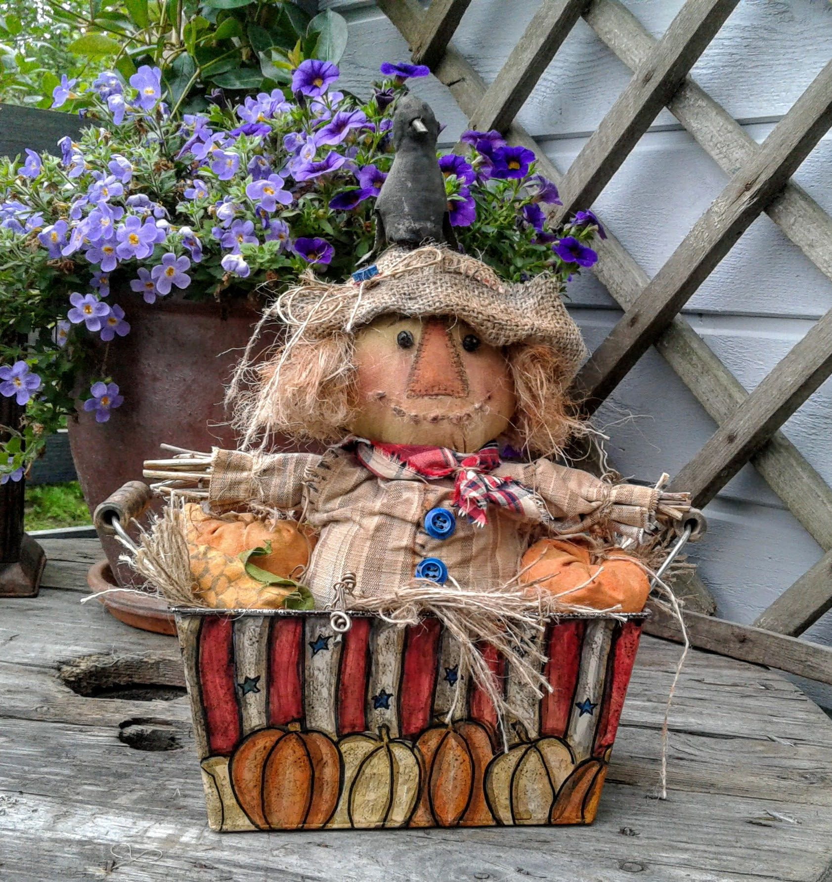 Primitive Scarecrow - Primitive Fall Decor - Primitive Doll