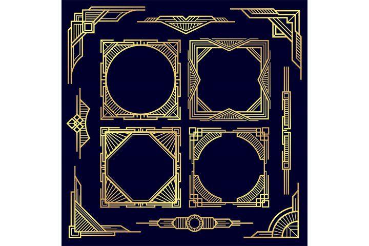 Classic Vintage Geometric Frames And Border 862764 Illustrations Design Bundles In 2021 Art Corner Geometric Art Deco Design